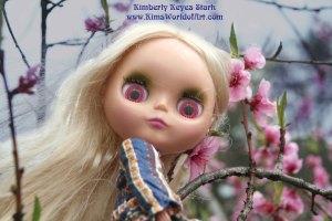 Blythe Doll in Cherry Blossom Tree