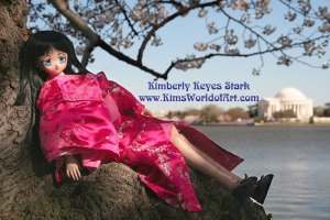 Volks Dollfie Dream Doll in Cherry Blossom Tree