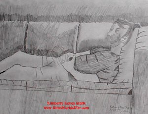 Michael Reclining on Couch