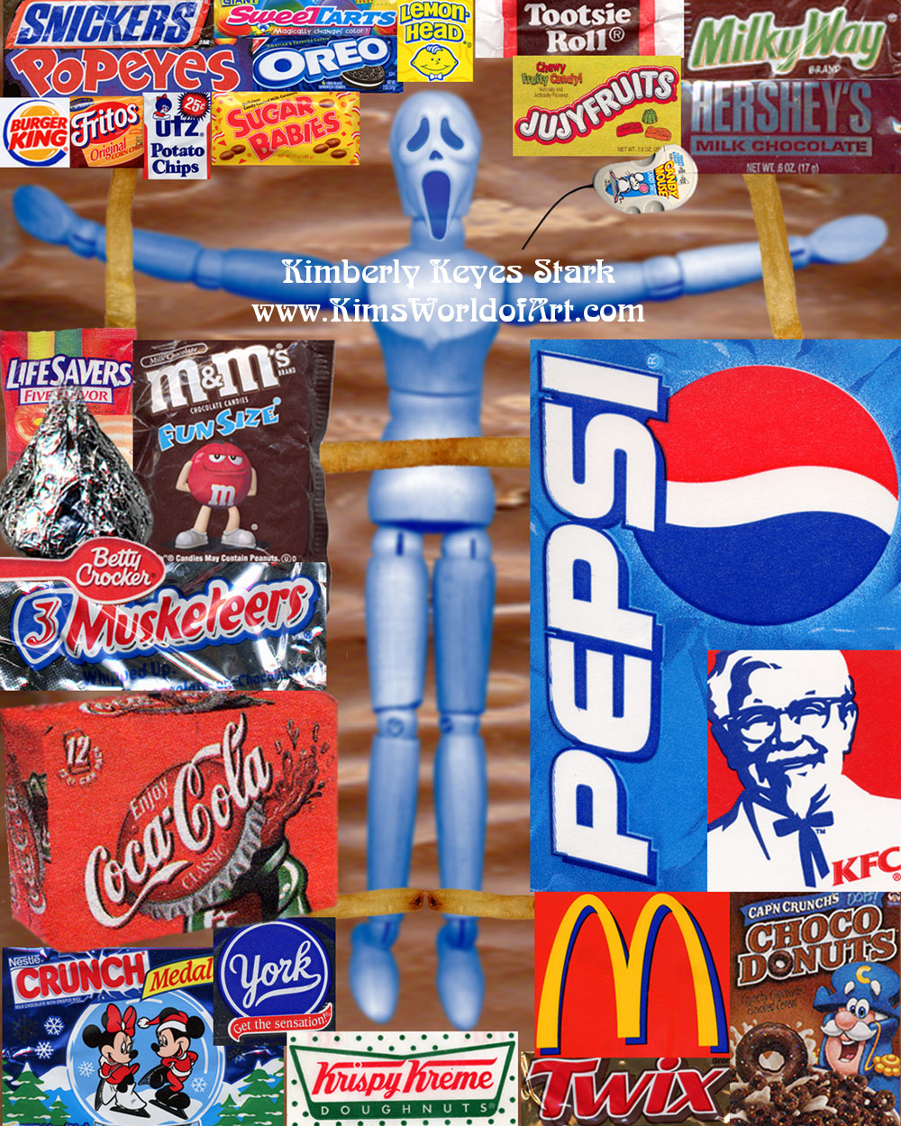 Fast food logos collage