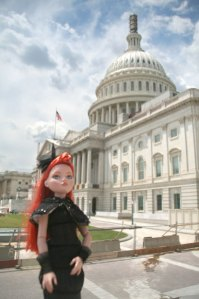 Ellowyne Wilde Doll in Front of U.S. Capitol