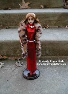 Glamourous in Red and Fur