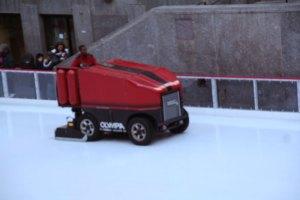Zamboni Driver in Rockefeller Center