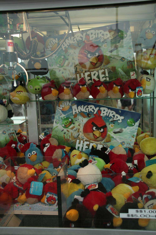 angry birds claw machine