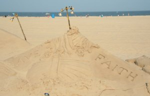 Giant Sand Sculptures, Ocean City, Maryland
