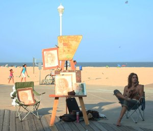 Artist and Musician, The Boardwalk, Ocean City, Maryland