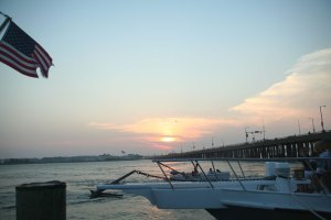 Sunset Over Route 50 Bridge, Ocean City, Maryland