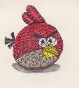 Angry Birds Zentangle