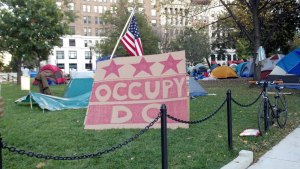 Occupy DC Sign and Tents, October 15, 2011