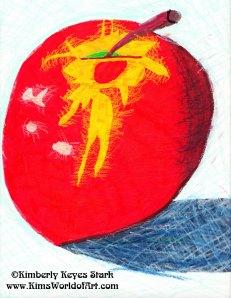 Apple Watercolor 1