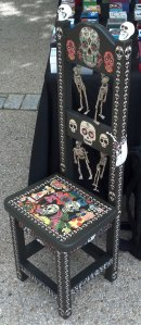 Day of the Dead Chair at the Greenbelt Green Man Festival
