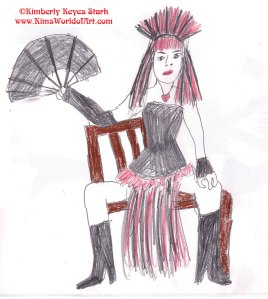 Valeria Voxx, Dr. Sketchy's Anti-Art School, Baltimore, July 21, 2012