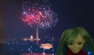 Victoria the Makie Doll on the Fourth of July