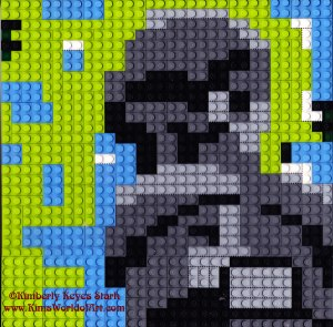 Mother and Child Lego Mosaic