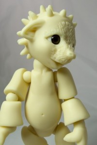 Spikey the anthro ball jointed resin hedgehog doll
