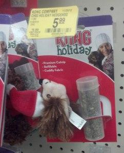 Christmas Catnip Hedgehog Toy