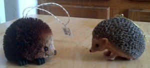 My new hedgehog ornaments I purchased from Valley View Farms