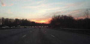 Sunset along Route 50, November 30, 2012