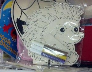 wooden hedgehog craft kit