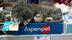 Aspenpet plush hedgehog toys for dogs