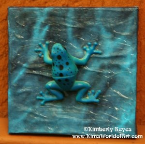 Blue Frog in Water