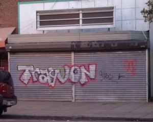 Trayvon graffiti, Adams-Morgan, Washington, DC, July 14, 2013