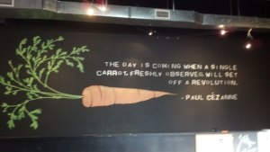 Paul Cezanne Quote in the Single Carrot Theater, Baltimore, Maryland