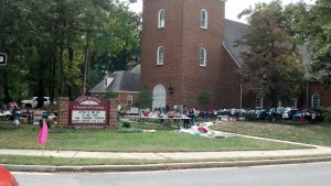 Yard Sale at Baptist Church, Crofton, Maryland, September 28, 2013