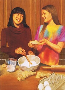 Ivy and Julie attempt to bake cookies without a recipe, despite a lack of baking experience.