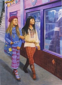 Julie and Ivy go shopping in funky 1970's era clothes.