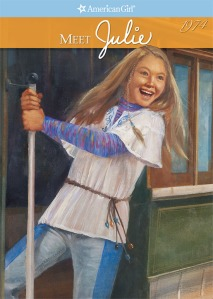 You know this book takes place in San Francisco when you see Julie swinging from the pole of a cable car.