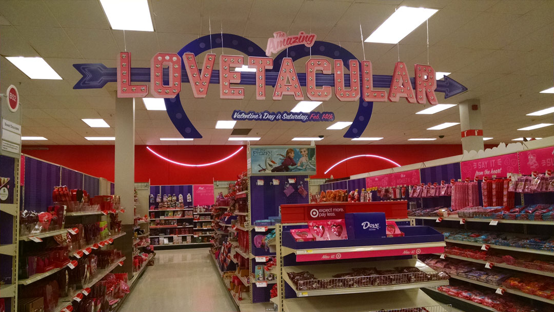 Target S Valentine S Day Display February 6 2015 Sagittarius Dolly